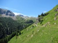 Sullo sfondo l'Alp Anarosa