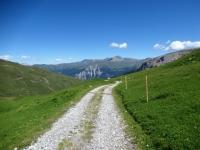 Discesa dall'Alpe Nurdagn a Plan Cardaletsch