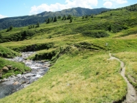 Il sentiero percorso per giungere alla Capanna Bovarina