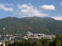 Alpe Cardada e Cimetta dal lungolago di Locarno