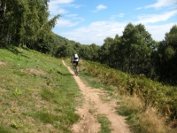 Single-track in direzione dell'Alpe Cardada