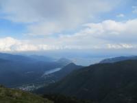 Panorama nei pressi della Cappella del Buon Pastore - vista sul Lago Maggiore, Lago di Mergozzo e Lago di Varese