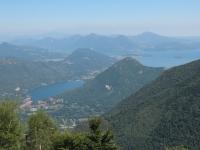 Panorama su Lago di Mergozzo e Lago Maggiore dall'Alpe Scirombei