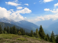 Panoramica Valle Leventina dall'Alpe di Carì