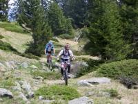 Lungo il sentiero scendendo dall'Alpe di Carì