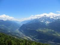 Alpe di Chiera, panoramica sulla Val Leventina