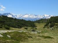 Alpe di Chiera, panoramica sui rilievi della Val Bedretto