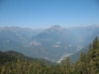 Panorama sulla valle Mesolcina prima dell'ingresso del tunnel
