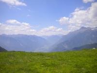 Piana di Bellinzona ed Alpi Svizzere dall'Alpe della Costa