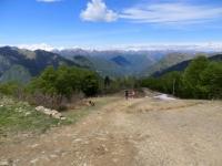 Scorcio della salita che conduce alla vetta del monte Campariet