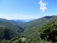 Discesa verso Indemini, panorama della Val Veddasca