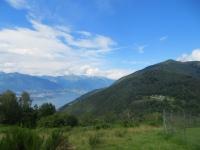 Monti di Pino ed alto Lago Maggiore visti dai Monti di Bassano