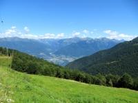 Panorama dall'Alpe di Neggia, Magadino e la parte terminale della Val Verzasca