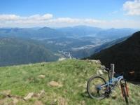 Panorama su Lugano dal sentiero che collega l'Alpe Foppa con l'Alpe Duragno