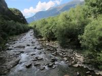 Fiume Ticino nei pressi di Faido
