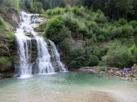 La cascata Piumogna a Faido