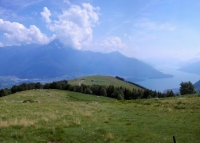 Discesa dall'Alpe gigiai - panorama