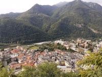 Il centro storico di Varallo Sesia visto dal Sacro Monte