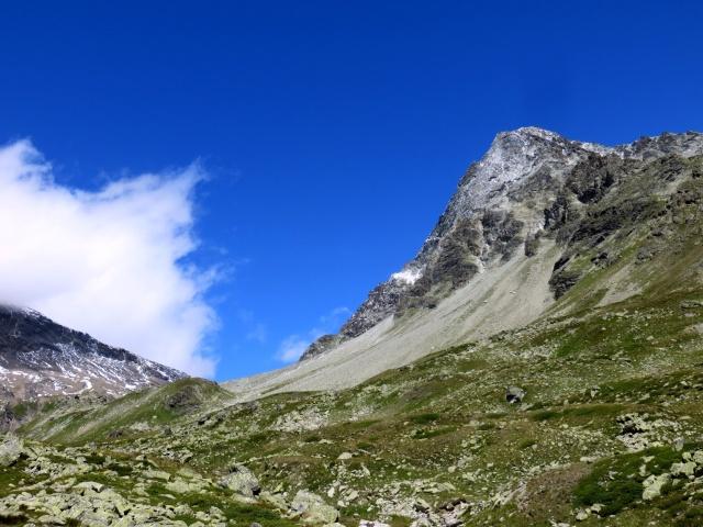 Alpe Thoules - vista sul Mont Gelé ed il Col Fenêtre Durand