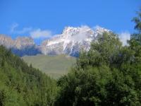 Salita al Col Champillon - vista su Mont Vélan e Dents du Vélan