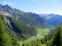Panorama dalla Conca di By su Ollomont e le sue frazioni