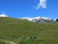 Nella conca di By - panorama - Tête Blanche (3.418), Tête du Filon (3.306), Tête de Balme (3.313), Monte Avril (3.346)