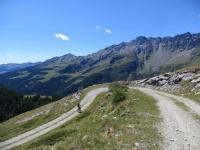 Tratto di salita che collega l'alpe Balme de Bal con l'alpe Thoules