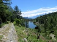 Lago d'Arpon - ingresso in territorio francese