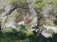 Salita per l'Alpe Veglia, gola scavata dal torrente Cairasca