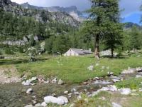Alpeggio presso il Pian du Scricc