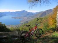 Salita ai Monti di Motti - vista sull'Alto Lago Maggiore