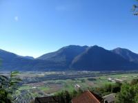 Salita ai Monti di Motti - Il Piano di Magadino e sullo sfondo il Ceneri, il Monte Tamaro ed il Gambarogno