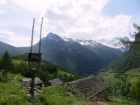 Furggupass ed i rilievi della Zwischbergental sullo sfondo