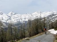 La catena alpina che circonda il Passo del Sempione