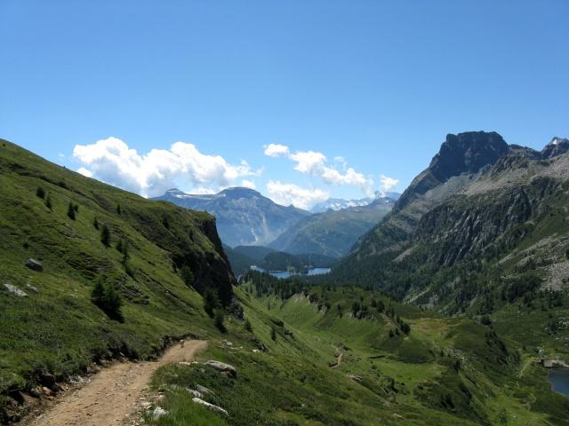 Salita all\'Alpe Forno - tratto ripido