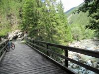 Attraversamento del torrente Landwasser nella gola di Zügen