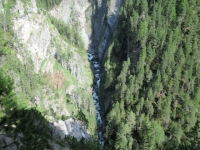 La stretta gola del torrente Landwasser