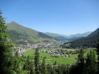 Davos Dorf - Panorama salendo alla stazione intermedia di Ischalp