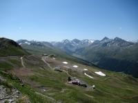 Panorama dal lo Jakobshorn - Al centro la vallata di Sertig