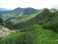 Via del Ferro, panorama su alta Valle Morobbia, tratto a mano