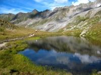 Lago alpino nei pressi del Maighelspass