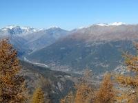 Panorama sulla valle di Bardonecchia dalla Cappella Notre Dame des Brousailles