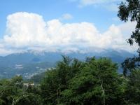 La catena Lema-Gradiccioli-Tamaro vista dalla sommità del Parco di san Grato
