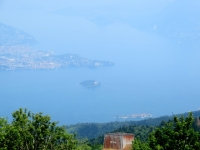 Le isole Borromeo viste dalla sommità del Monte Mottarone