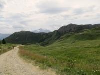 Uno dei tratti più ripidi della salita all'alpe Tsa de la Comba