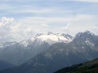 La Testa del Rutor ed il relativo ghiacciaio dall'alpe Tsa de la Comba