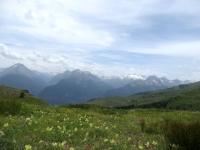Panorama in prossimità dell'alpeggio Tsa de la Comba