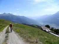 Sopra l'Alpe Metz de Bionaz - panorama sulla valle centrale