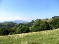 Panorama sulla sella Cavazza dall'Alpe Böcc (Monte Bisbino)