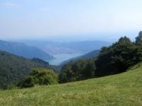 Vista sul Lago di Como dall'Alpeggio di Pra Piano